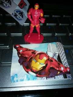 🚚 Iron Man mini figurine + sticker
