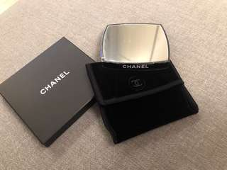 [包郵] Chanel Double-side Mirror 雙面鏡連絨袋