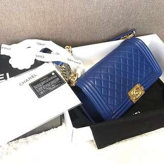 Preloved ~ Chanel Boy BE Lambskin GHW 25cm #23 | Complete holo, card, db, box & rec