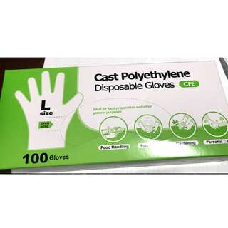 🚚 Cast Polyethylene Disposable Gloves - 2 Boxes Avail