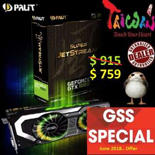 Palit GTX 1080 Super JetStream 8GB.., ( Till.. 30 June 2018 Offer  Ends...)