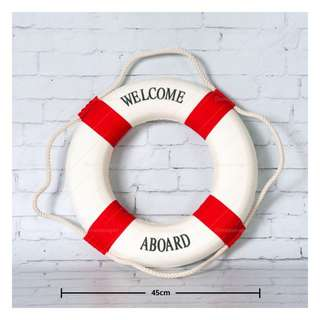 Large Nautical Life Saver / Buoy / Float (red) **RENTAL** Wedding / Events Props & Deco