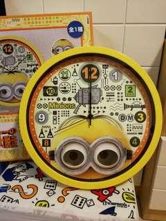 """日本 景品 Minions 12"""" 掛牆鐘"""