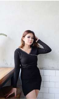 Xoxo knit top black