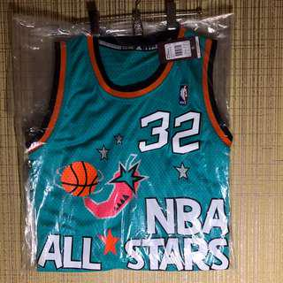Men's Shaquille O'Neal Retro 1996 All-Star East Soul Adidas Swingman NBA Jersey Size M