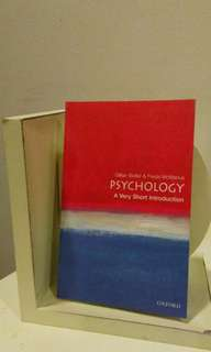 Psychology: A Very Short Introduction by Gillian Butler & Freda McManus