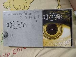 Rock CD - Rare Japan Press Def Leppard Greatest Hits Vault, 2CD, bonus tracks