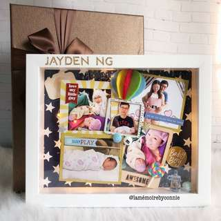 Personalised 3D Photo Frame (Baby Blue)