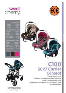 Sweet Cherry SCR7 Carrier Car Seat
