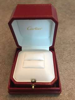 Cartier ring box and cleaning kit