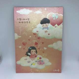 台灣插畫師CHIABB佳比「下輩子我也想和你談戀愛」雙面postcard