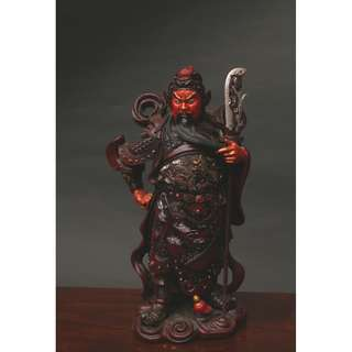 A piece of Resin Guanggong Statuette