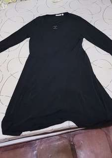 Black large dress for formal or office attire