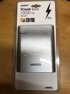 Miniso 10000mah 尿袋power bank 充電