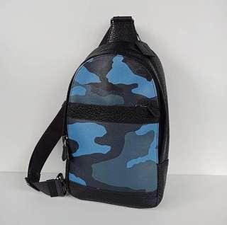 Coach F29714 Charles Sling Pack Blue Camo