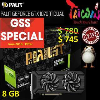 Palit GTX 1070 Ti Dual 8GB.., ( Till.. 30 June 2018 Offer  Ends...)