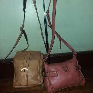 Bundle 💯original KiYTo Original preloved leather sling bags