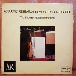 Reserved: Audiophile》Acoustic Reserach Demonstration Record - The Sound Of Musical Instruments  vinyl record
