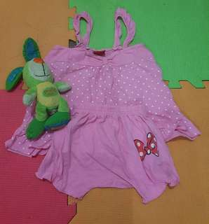 Minnie terno set short for 1-2yrs old