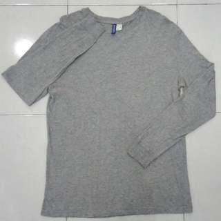 #UNDER90 H&M Grey T-Shirt Long Sleeve