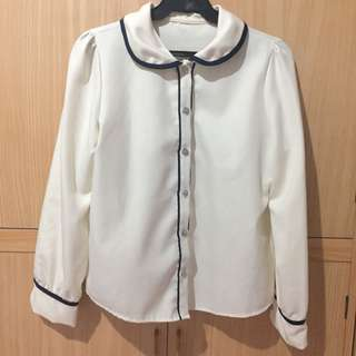 Dirty White Collared Blouse