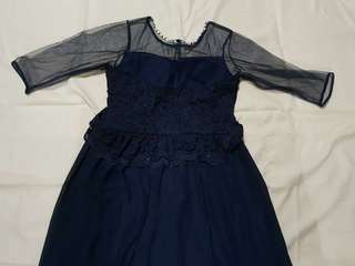 Long Gown (Navy Blue)