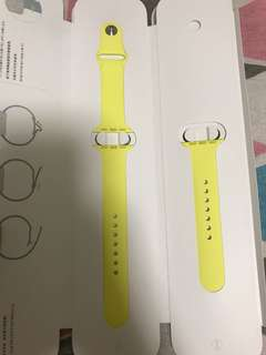 100% Apple Orignial 38mm Yellow Sport Band-蛋治黃運動錶帶