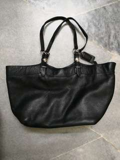 Coach Carly Pebble Leather Shoulder Tote Bag