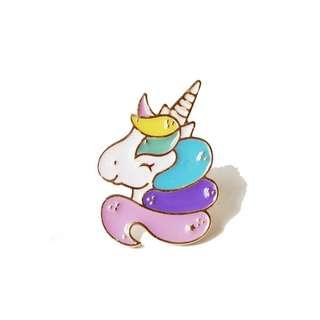 Rainbow Unicorn Enamel Pin / Bros