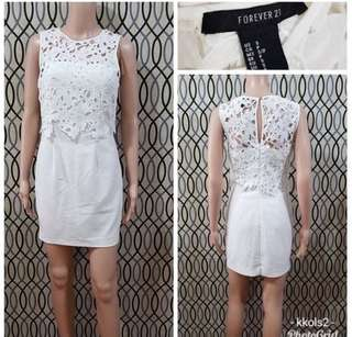 F21 lace overlay bodycon dress
