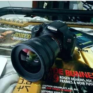 CANON 650D + Samyang 35mm 1.5 T Cinelens