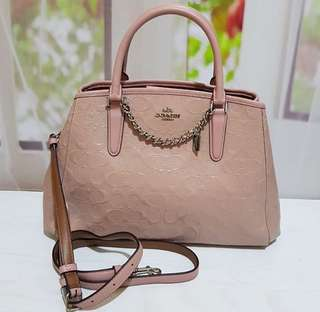 Coach Margot Embossed Blush
