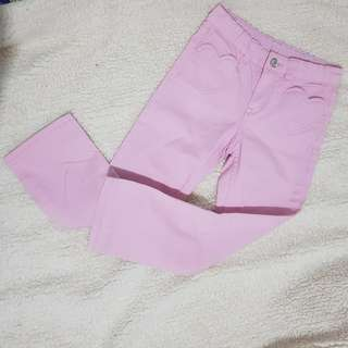H&M Pink Cotton Pants Girls 5-6yo 116cm