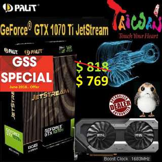 PALIT GTX 1070 Ti JetStream 8GB. ( Till.. 30 June 2018 Offer  Ends...)