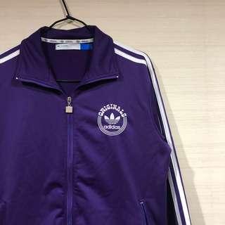 古著 復古 愛迪達 紫 外套