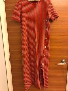 Vintage Side Button dress
