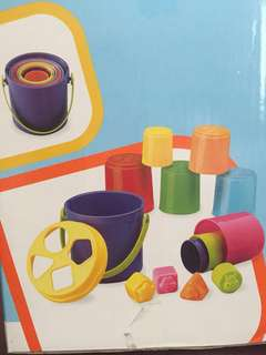 B Kids shape sorting stack n' nest toy