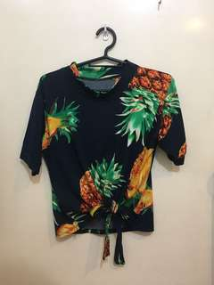 Pineapple Knot Cropped Top