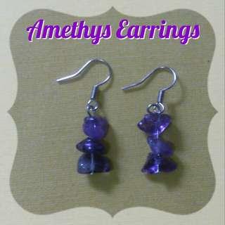 Amethys Healing Crystal 1 - Earing