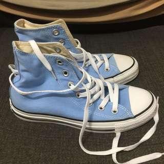 🚚 Converse 淺藍色高筒帆布鞋