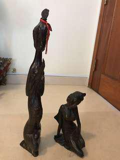 Figurines of 2 Indonesian ladies
