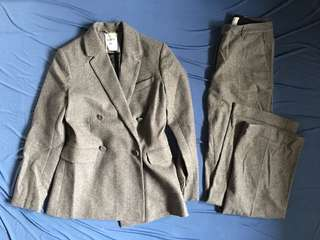 Erdem x H&M gray suit