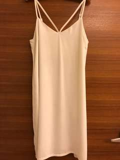 White front detail dress