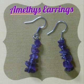 Amethys Healing Crystal 2 - Earing