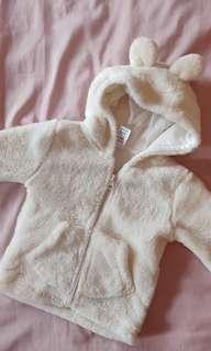 Baby White Plush Teddy Bear Hoodie