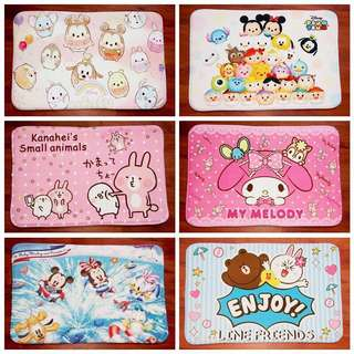 PO cartoon home non slip cushion bedroom living room absorbent foot  mat door mat floor mat