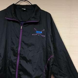 古著 復古 NCAA 紫 外套