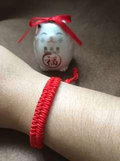 趣品館*L2605.雙層款 可調式手工編織簡約本命紅線 男女幸運手鍊.嚴選創意生活禮品包材