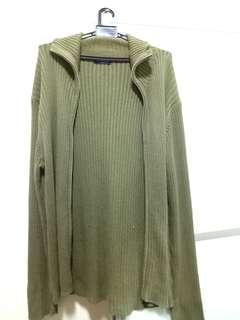 Uniqlo Long Green Jacket