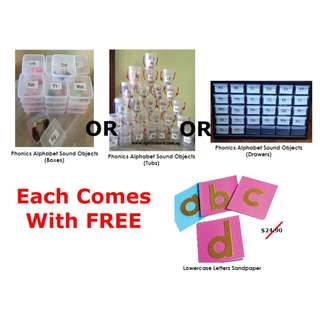 Special Offer For PHONICS ALPHABET / LETTER SOUND objects